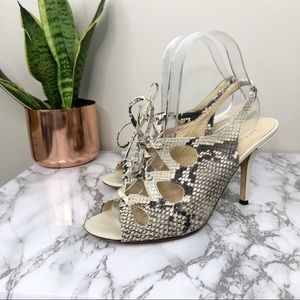 KATE SPADE | Python Leather Slingback Heels